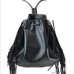 Victoria's Secret Fringe Faux Leather Backpack Bag